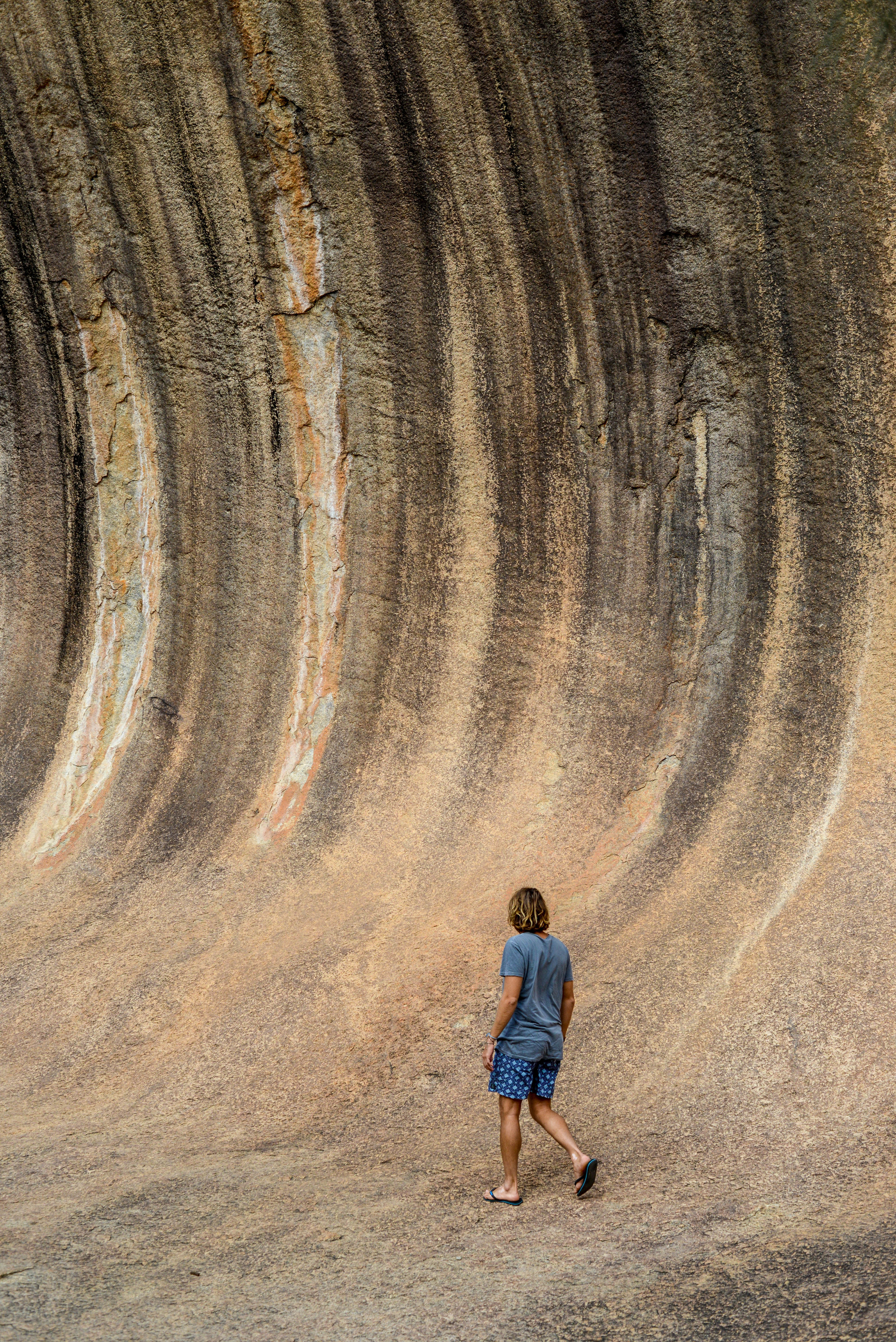 Beneath Wave Rock in Western Australia.