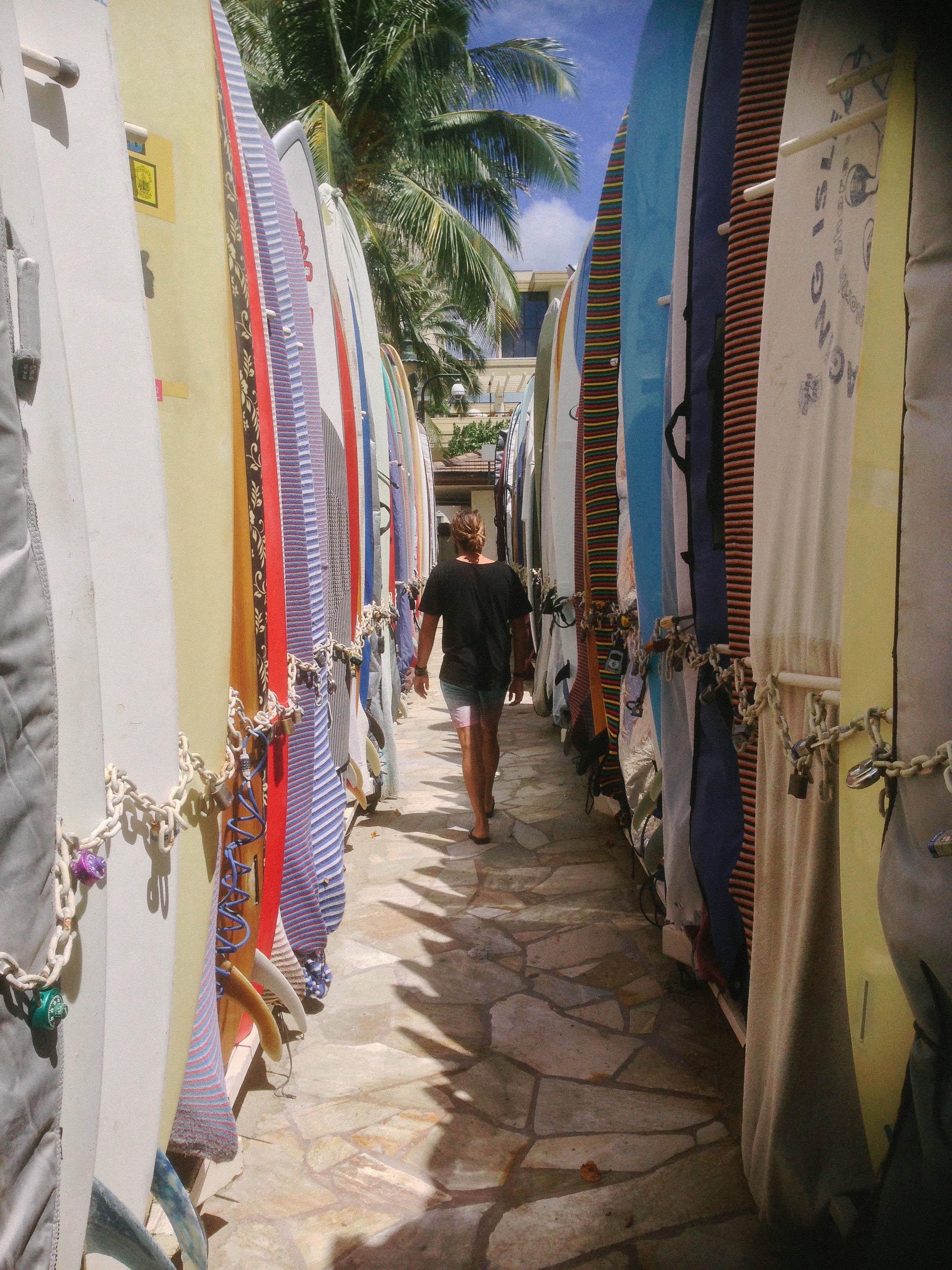 Jonny in longboard heaven at Waikiki Beach, Oahu.
