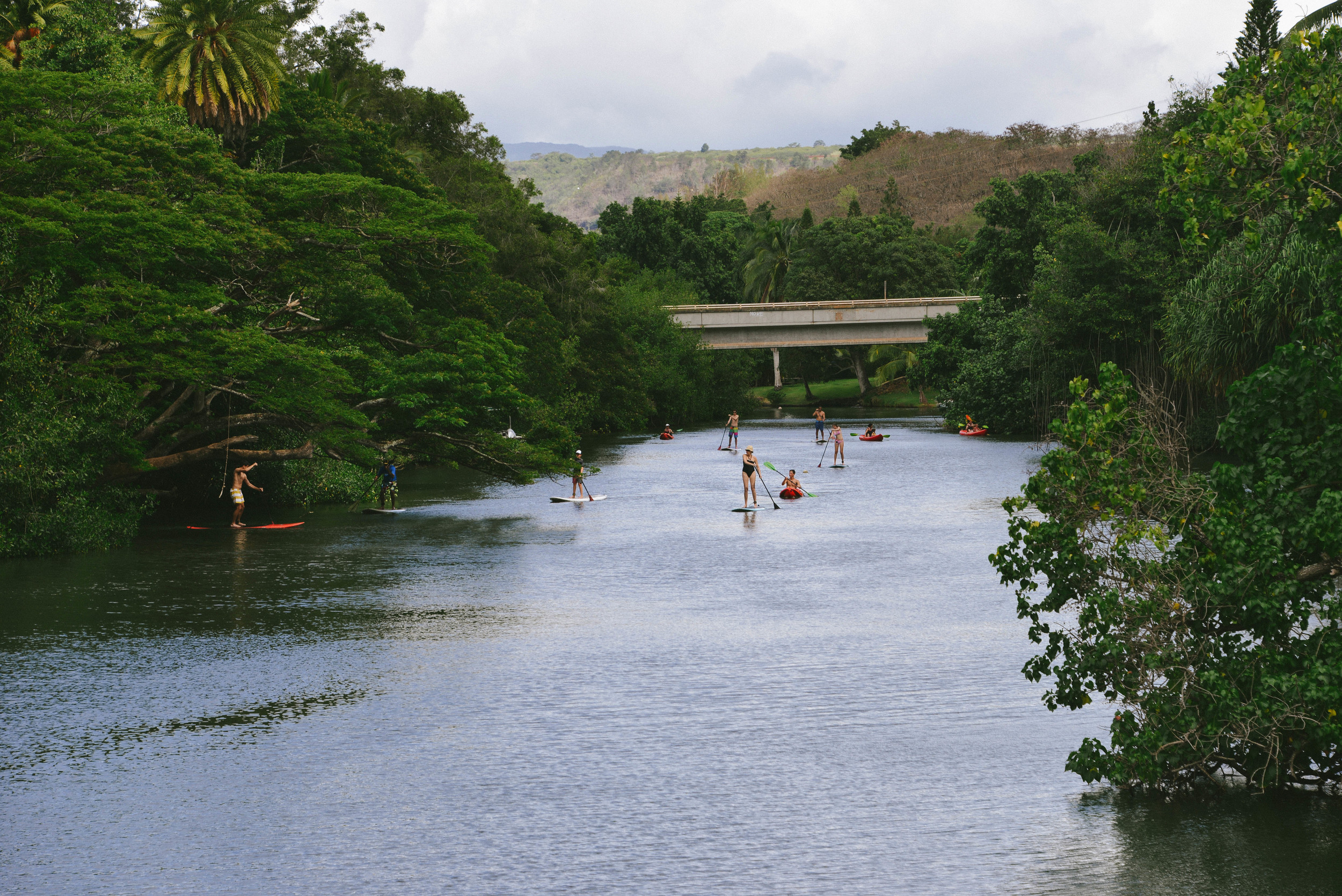 SUP on the Haleiwa inlet, Oahu.