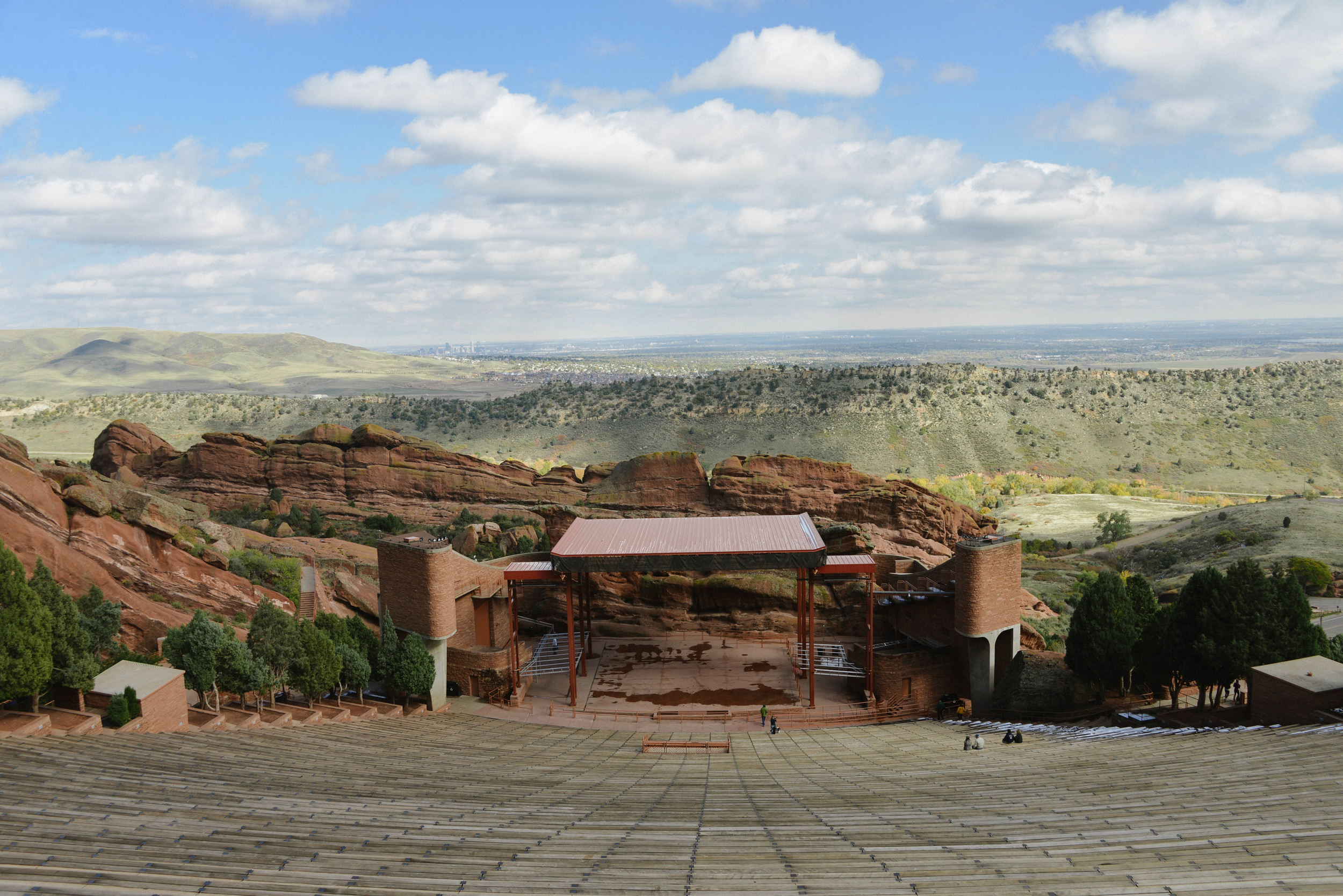 The famous Red Rocks stage.