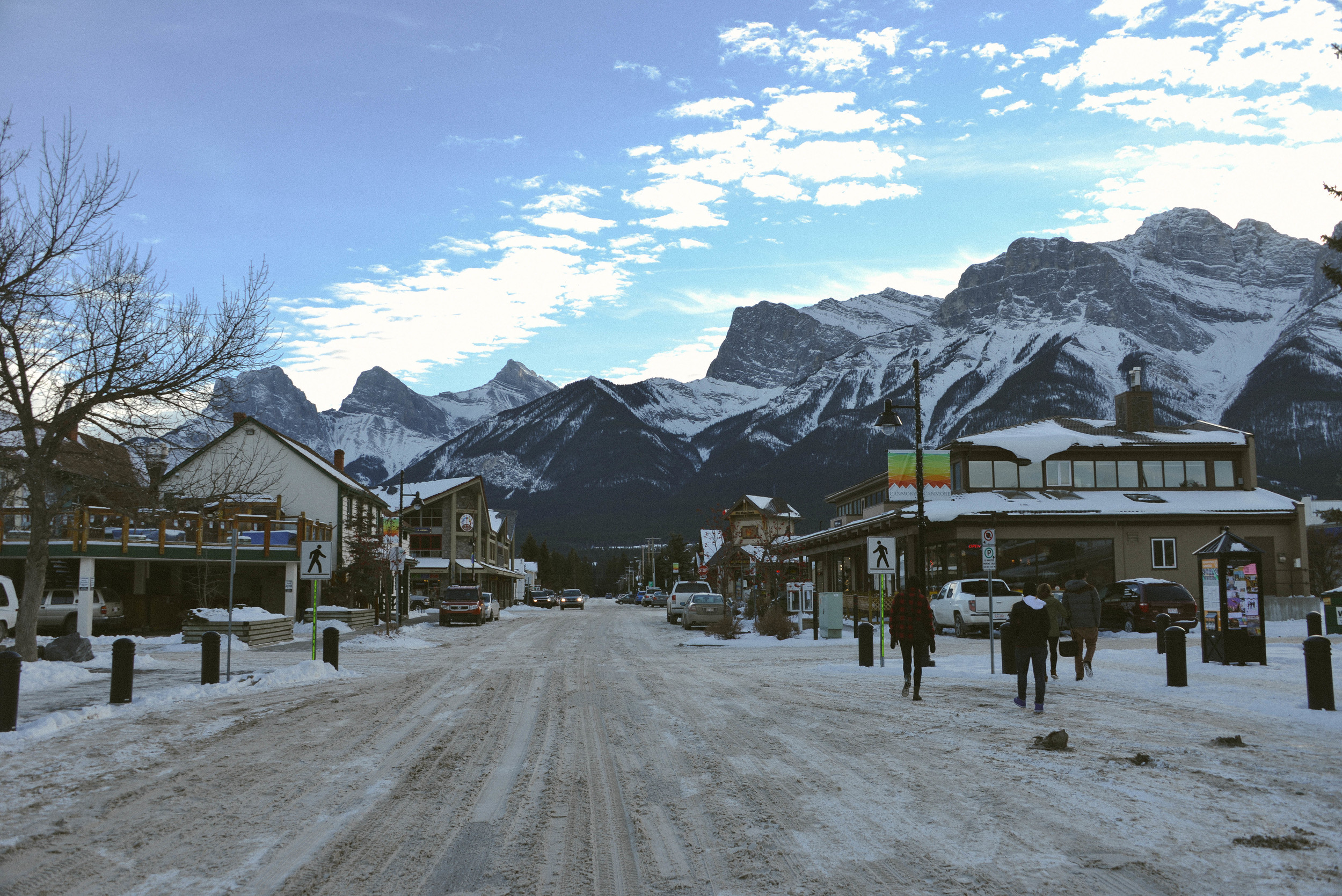 The town of Canmore, just outside of Banff.