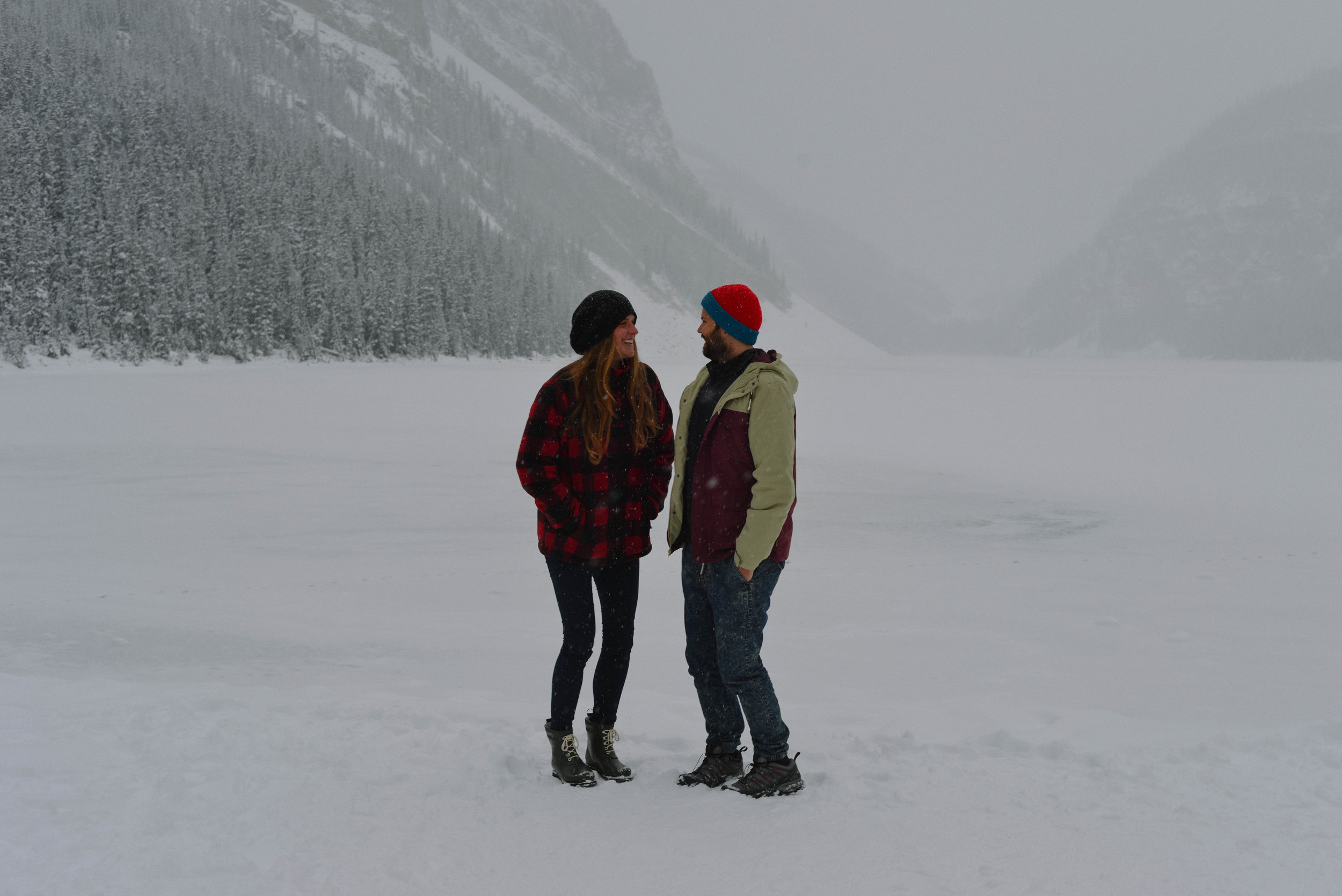 It was minus 26 degrees at Lake Louise, just a bit chilly!