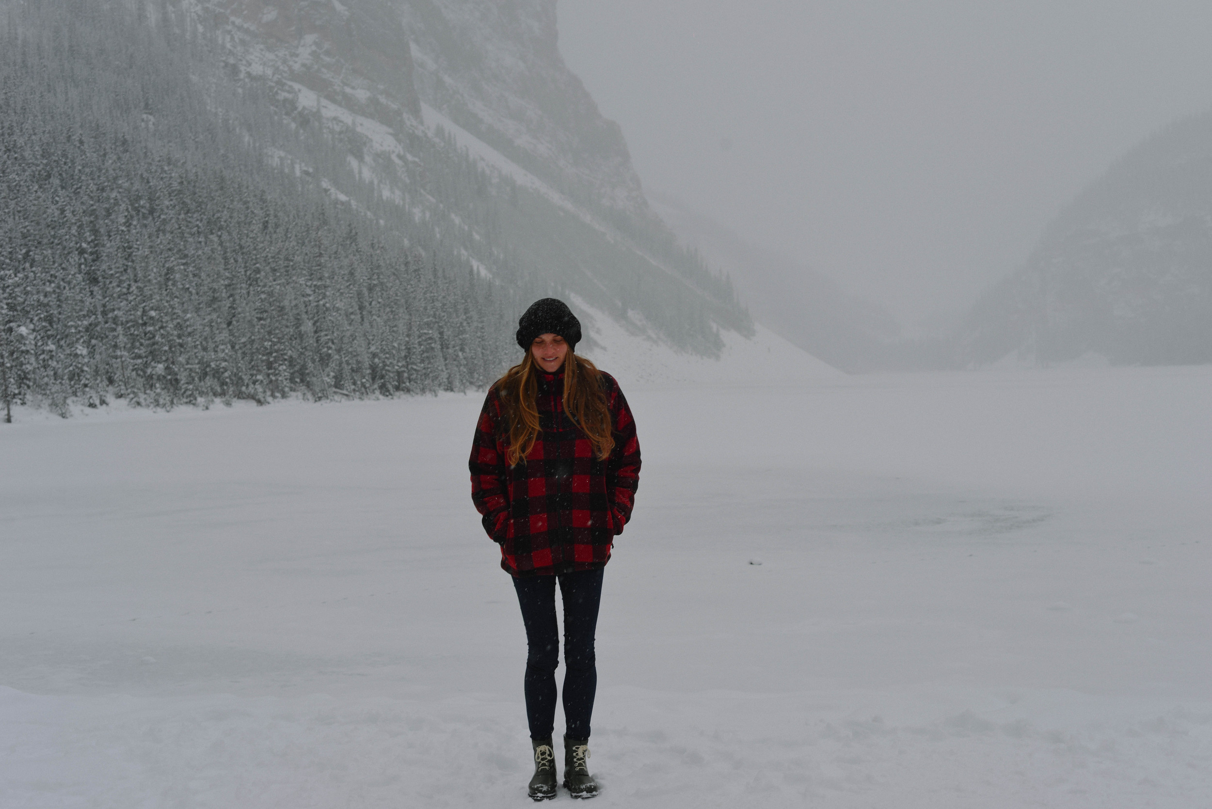 Jess at Lake Louise.