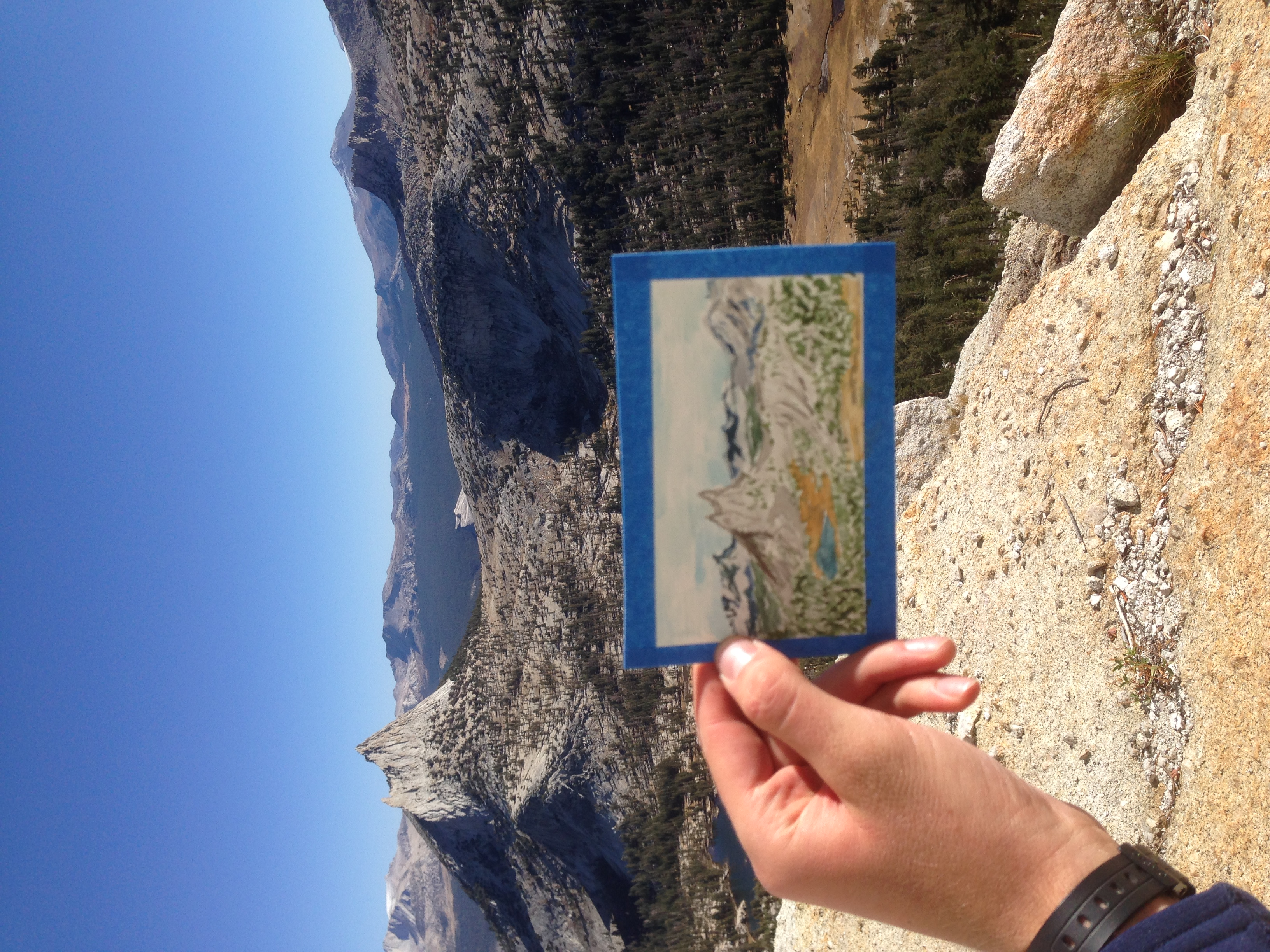 original photograph from sketching Cathedral Peak in Yos