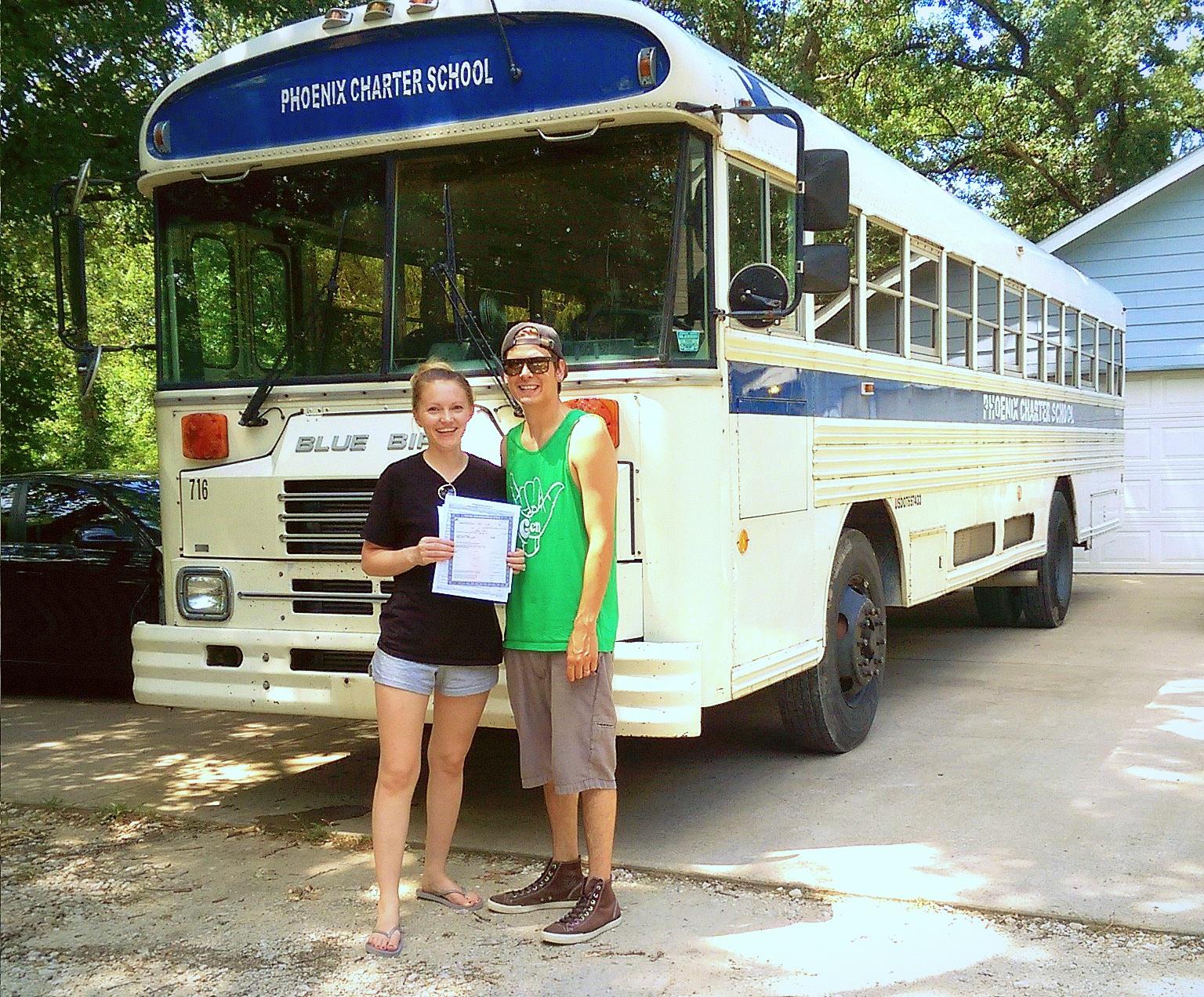 Tamra & JT: School of Life Bus — Rebel on a Rainbow