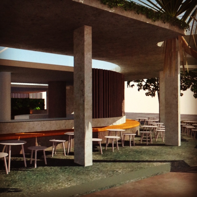 Early concept designs for a new Bar /Restaurant in downtown  Noosa Heads