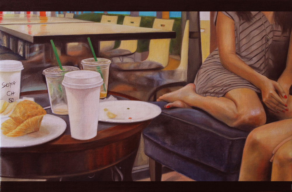 """Love and Scandal, 18 x 24"""" oil on canvas (sold)"""