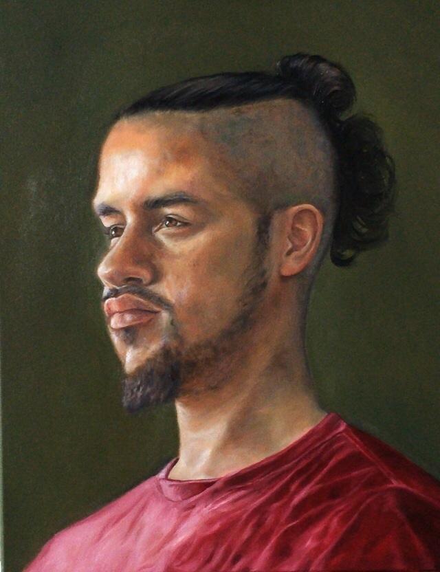 "Quan, 18 x 24"", oil on canvas"