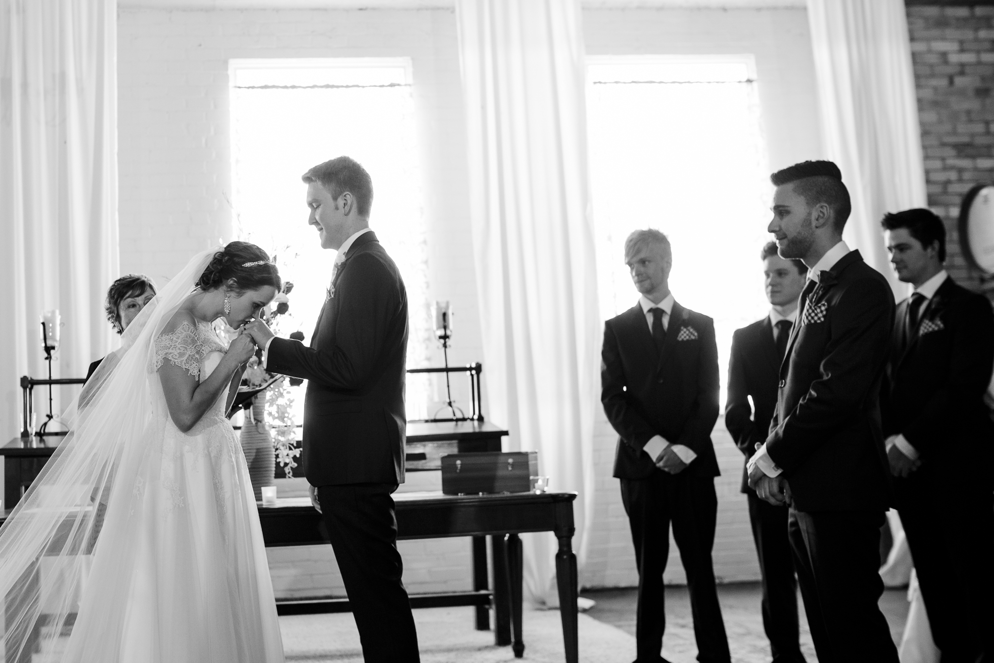 After 50+ weddings this year, this is such a beautiful and emotional gesture as Bec kisses Matt's wedding ring after placing it on his hand. I've never seen or heard of anyone doing this and to me thisis such a beautiful gesture...