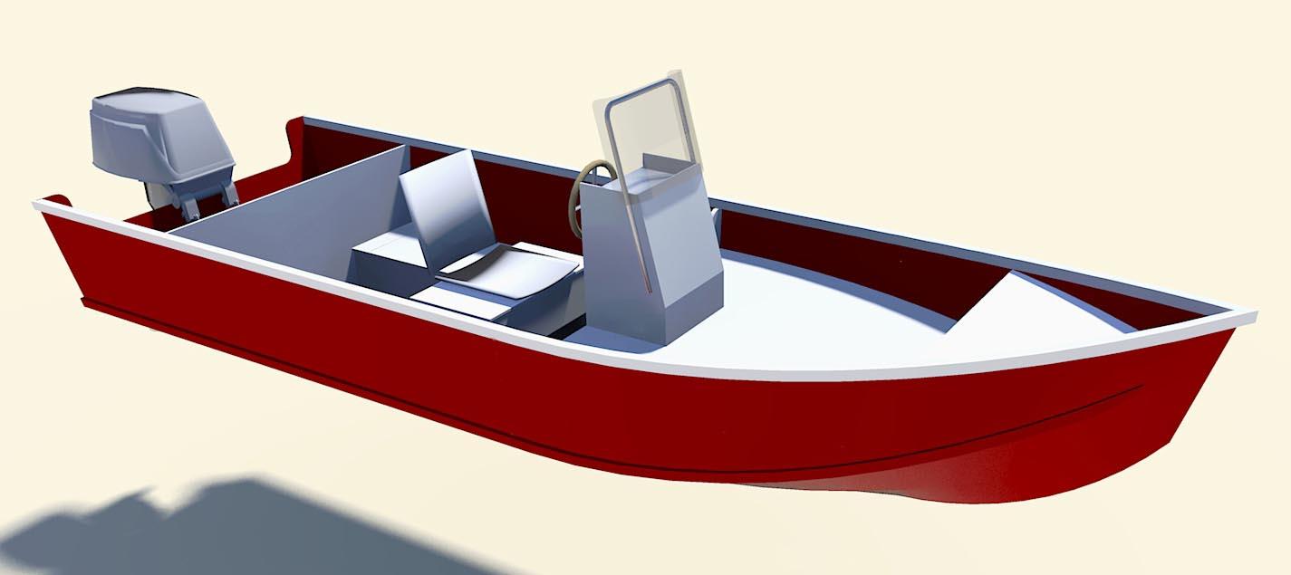 """Volare Console  15' 4"""" x 5' Console Boat"""
