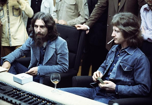 George Harrison with Pete Ham