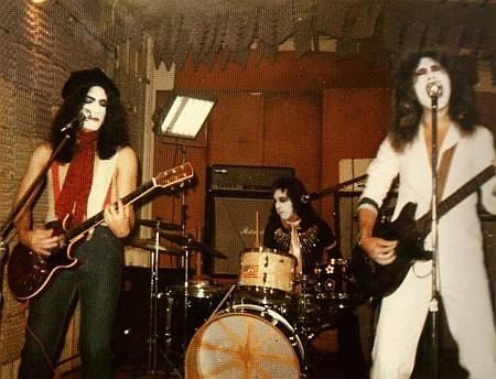 Practicing at Bleecker Street loft as a trio.