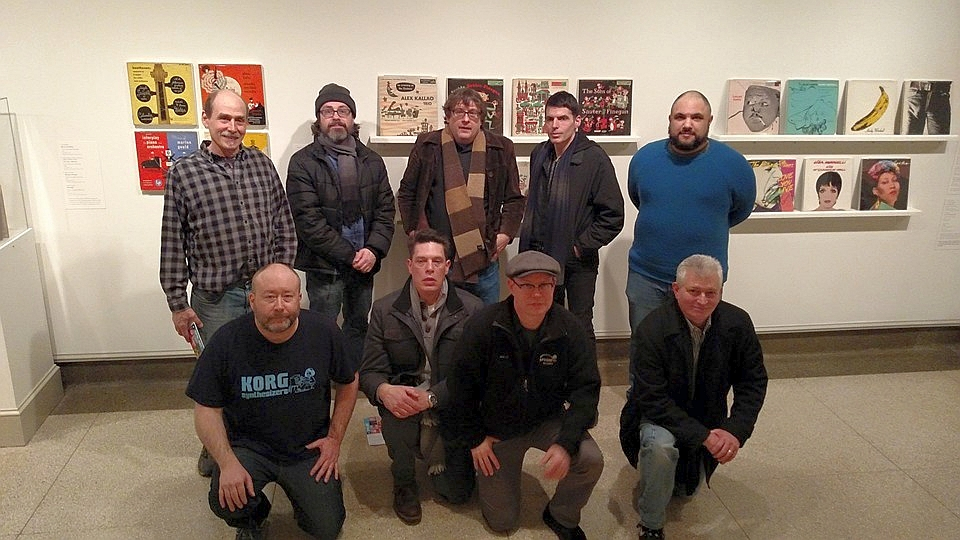 Several of the  Spin Art  contributors gathered at the Columbus Museum of Art last night for a sneak peak of the exhibit. Photo courtesy of Kyle Siegrist and taken by Amy Kesting.