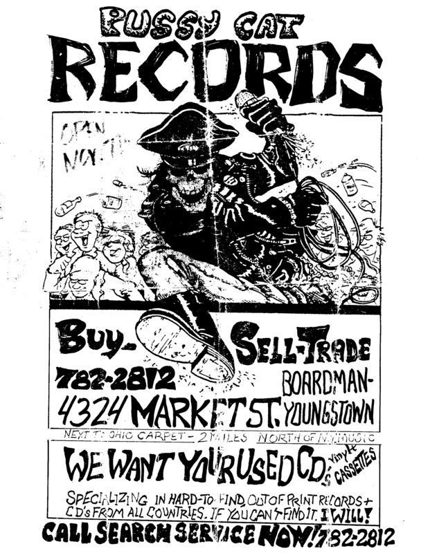 Flyer for Angelo's Pussycat Records.