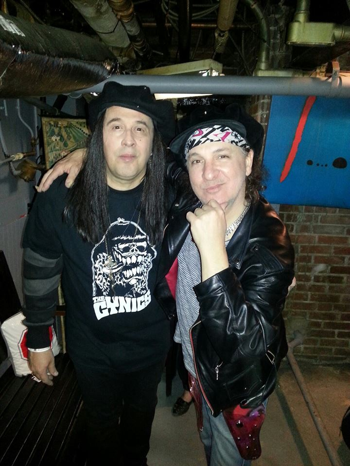 Angelo with Sylvain Sylvain of the New York Dolls @ Bernie's