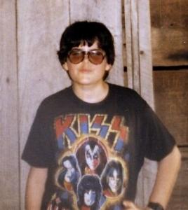Me 1979 with my bootleg concert tee