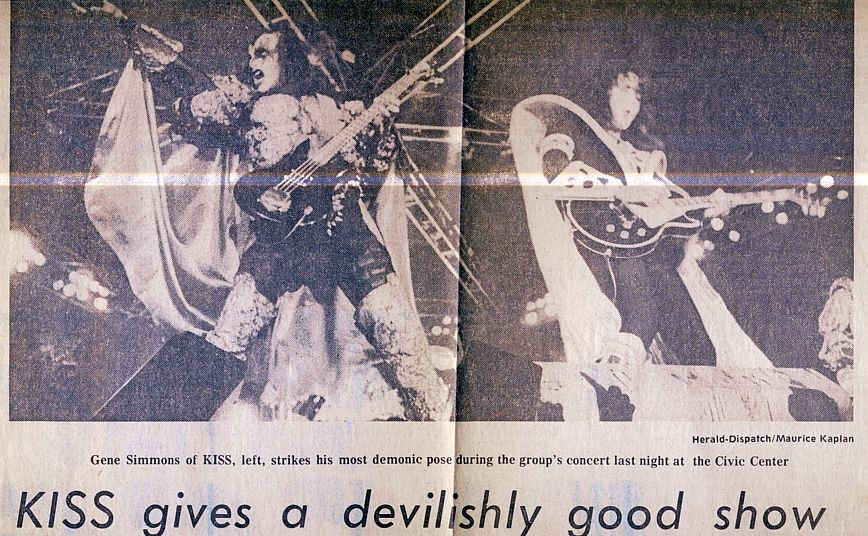 Gene Simmons and Ace Frehley Huntington Civic Center September 10, 1979