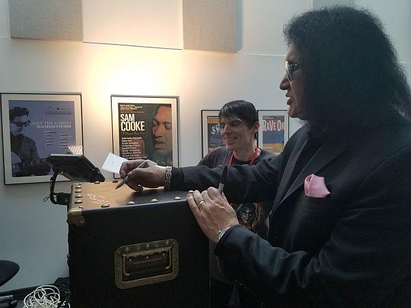 Gene signing my Vault.
