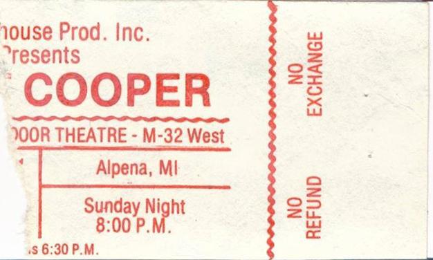 Alice Cooper - Alpena, MI 1981