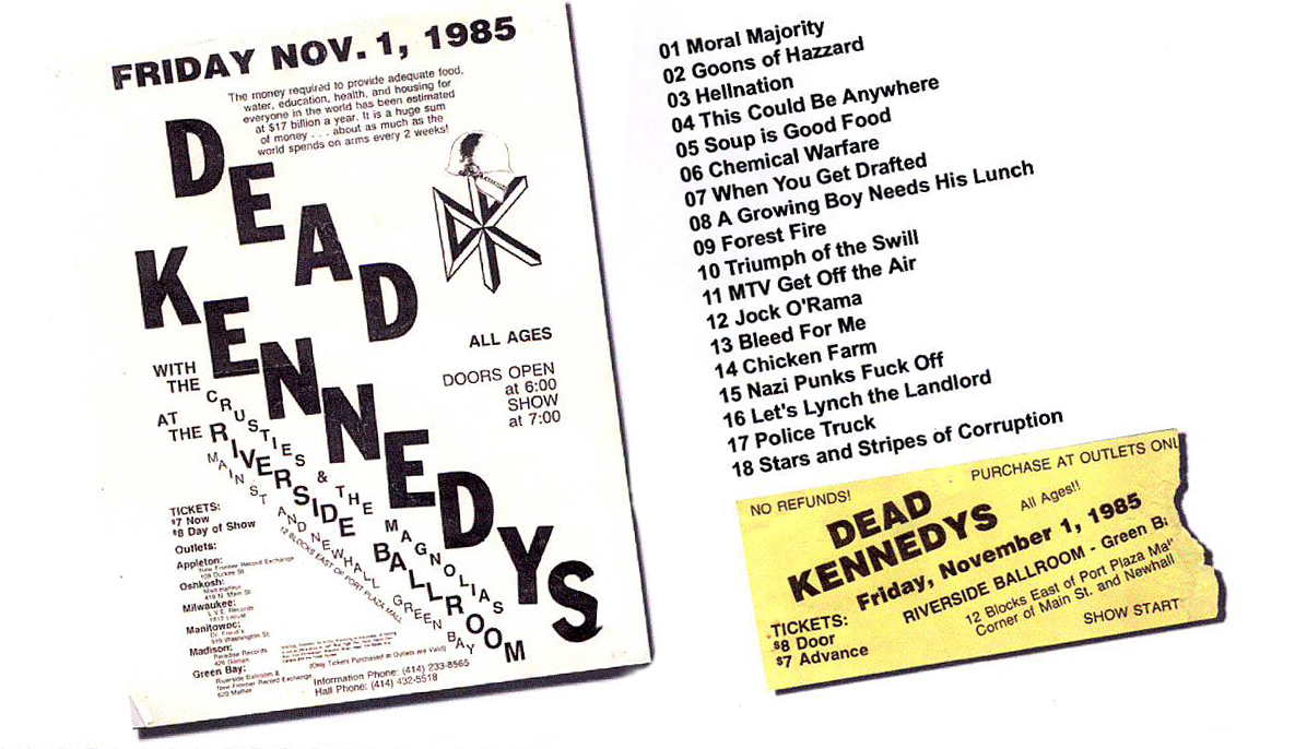 Dead Kennedys - Green Bay, WI 1985