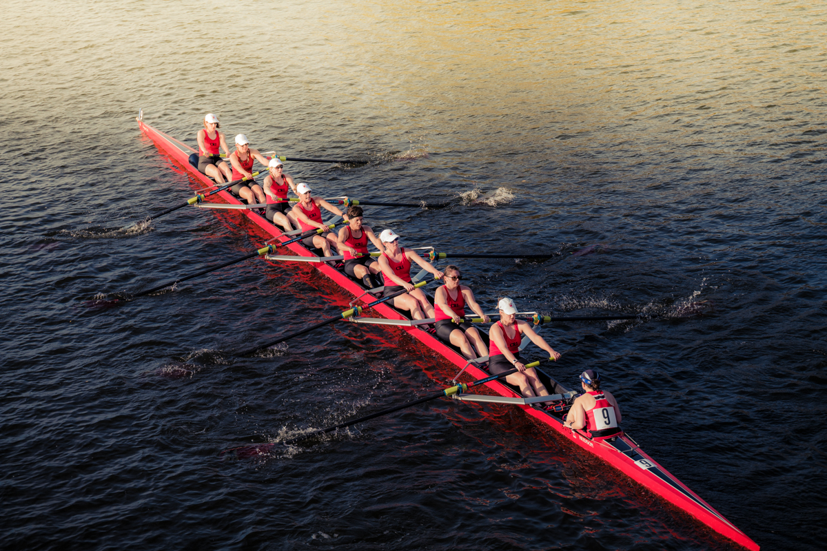 The CRI Competitive Women's Team in action at the Head of the Charles, Boston, October 21, 2017