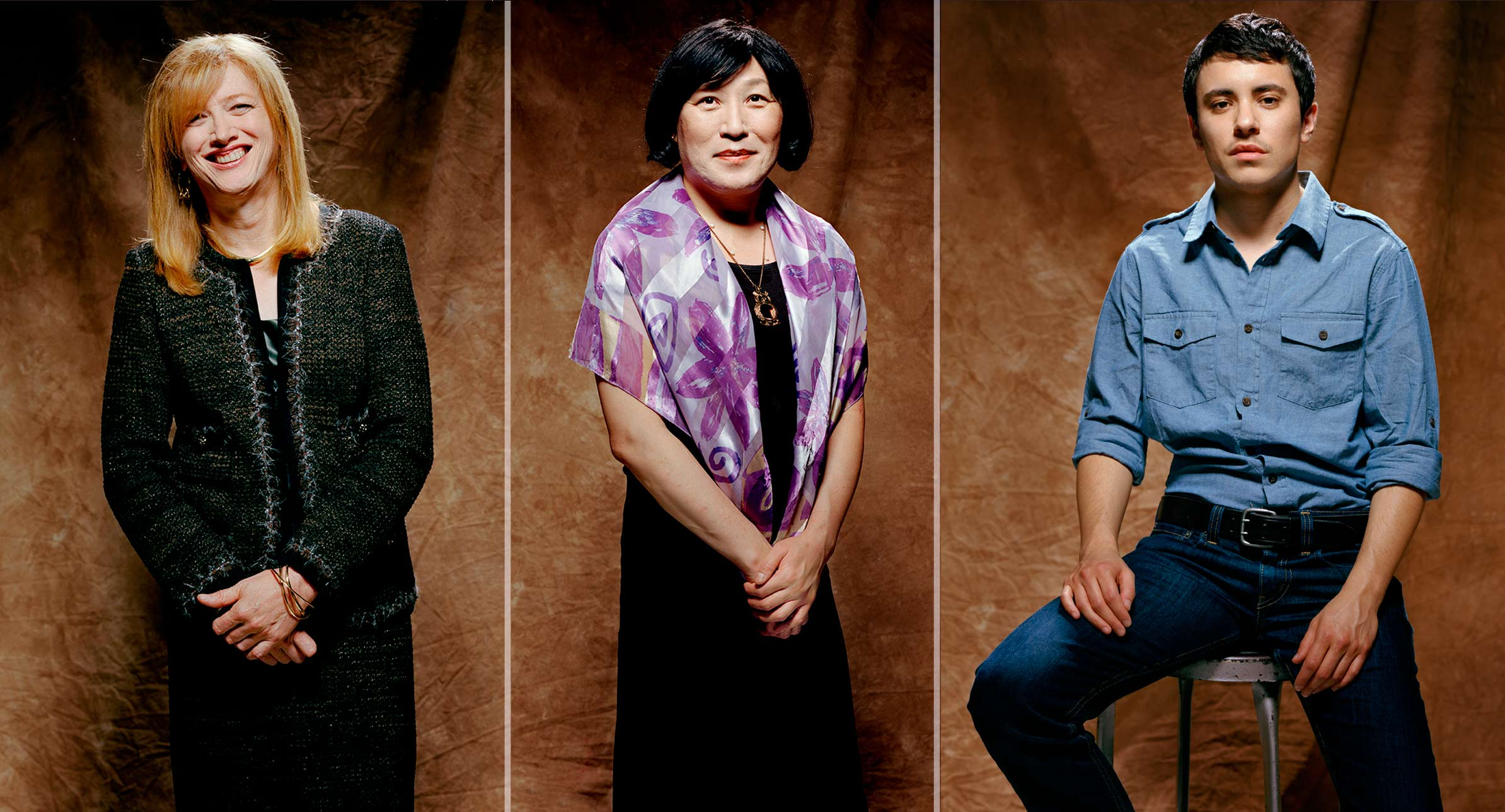 From left, Margaret Stumpp, Pauline Park, and Sam. Photographed for The New Republic, New York City, 2011.