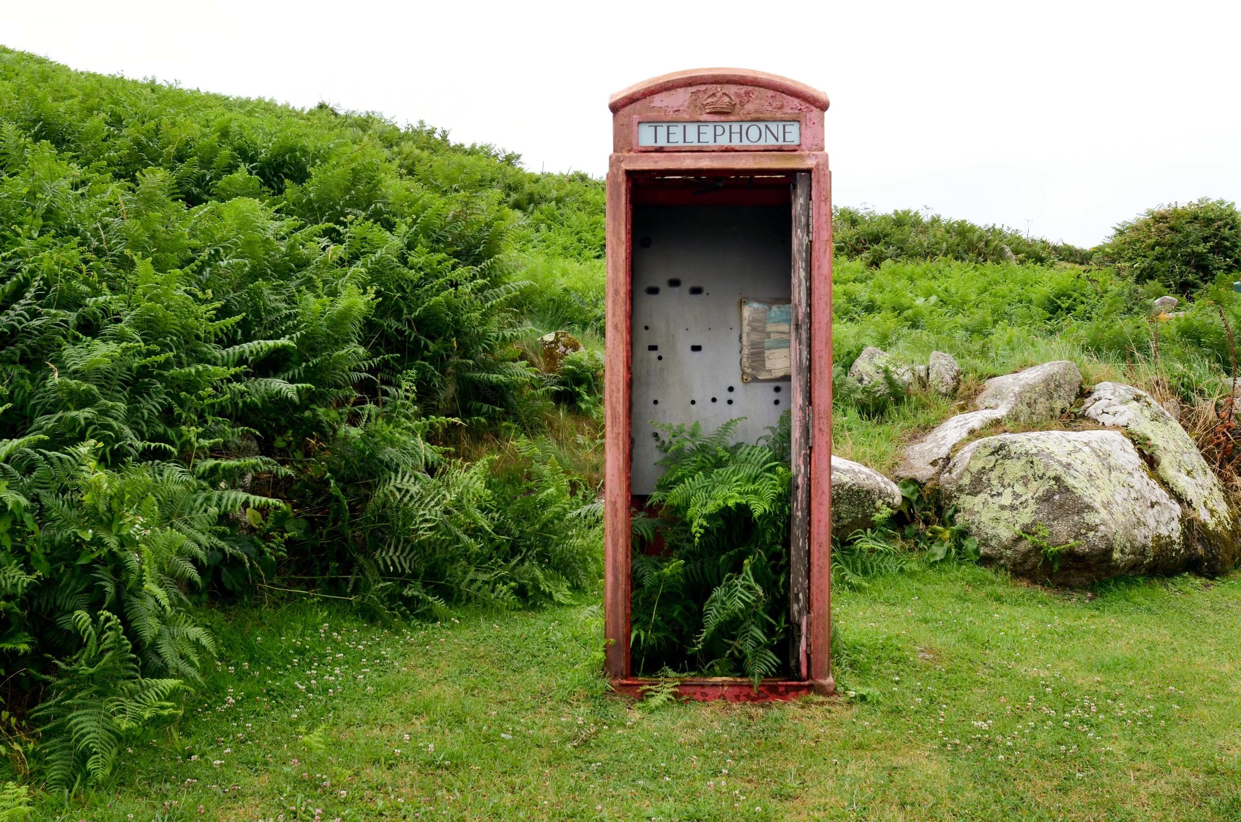 Bryher Telephone Box.