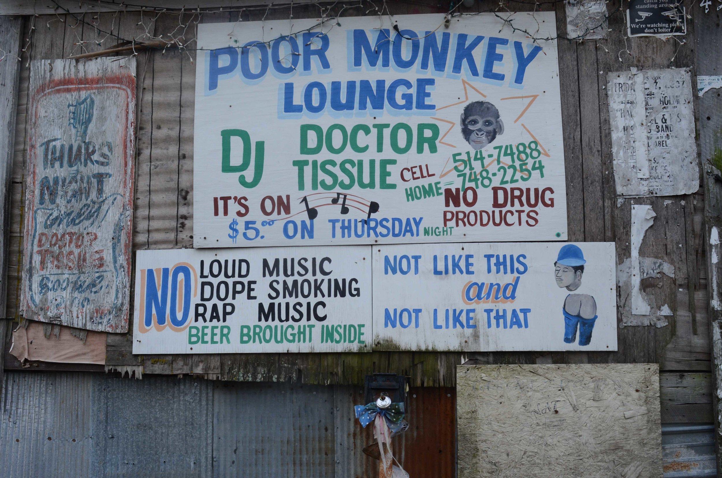 Po'Monkey's, Merigold, Mississippi.