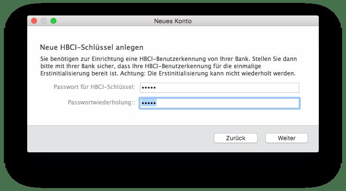 Banking 4 HBCI-Schlüssel anlegen Passwort