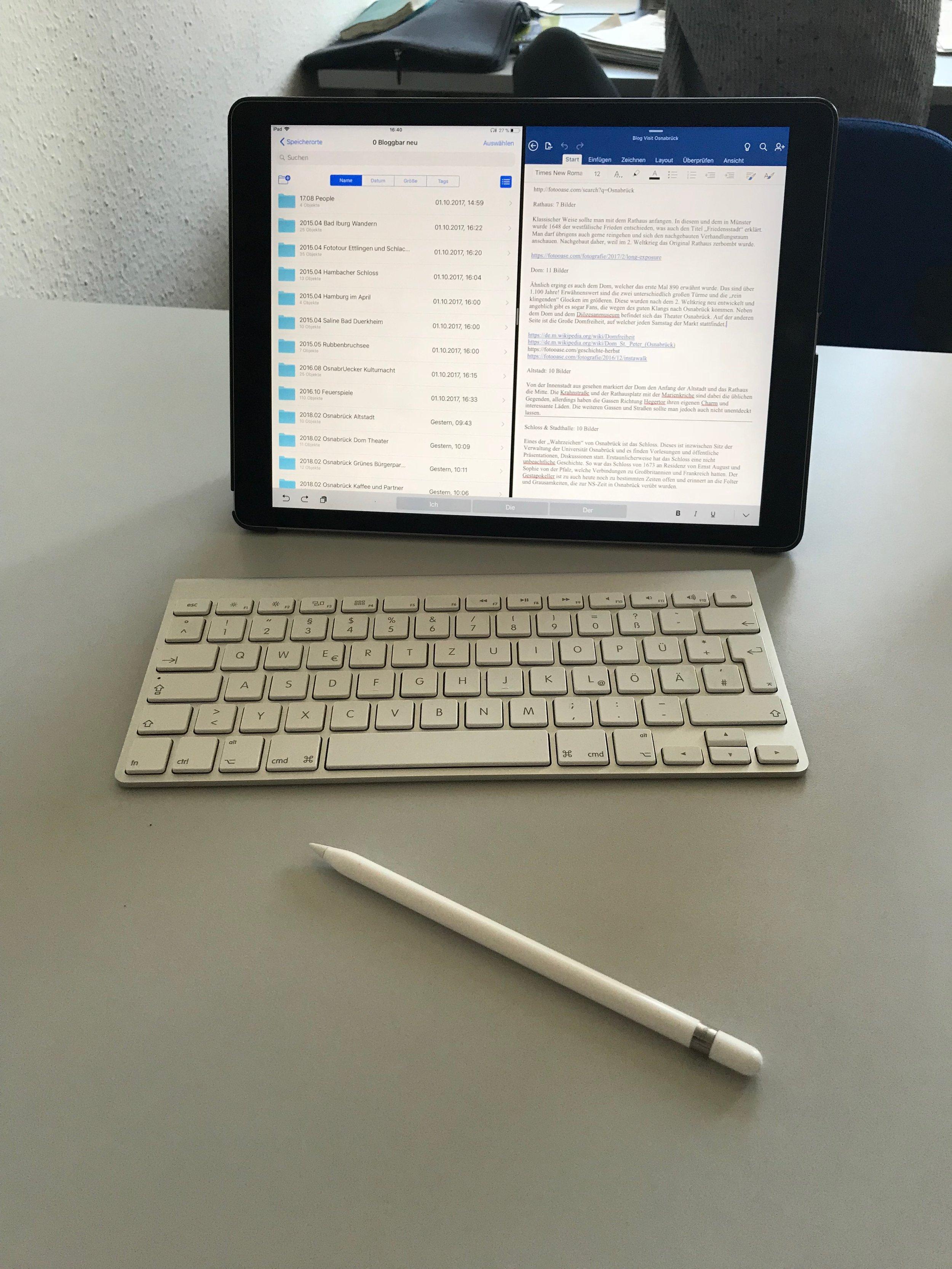 Apple iPad Pro im Studium Pencil Tastatur beim Lernen.jpg