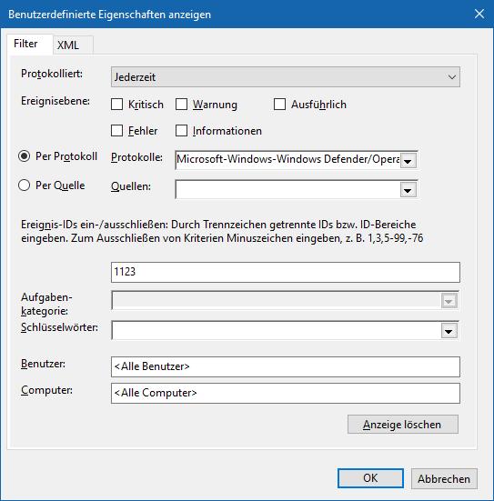 Windows Ereignisanzeige Einstellungen.PNG