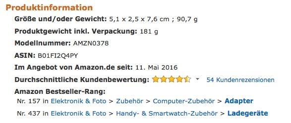 AmazonBasics Netzteil