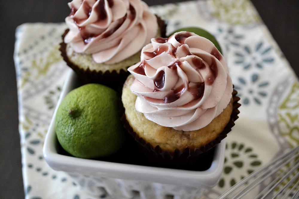 Pomegranate + Lime Cupcakes #thegirlkyle