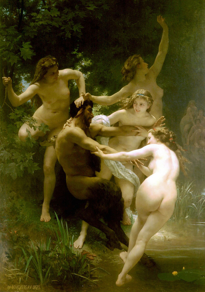 "Bouguereau, ""Nymphs and Satyr"""
