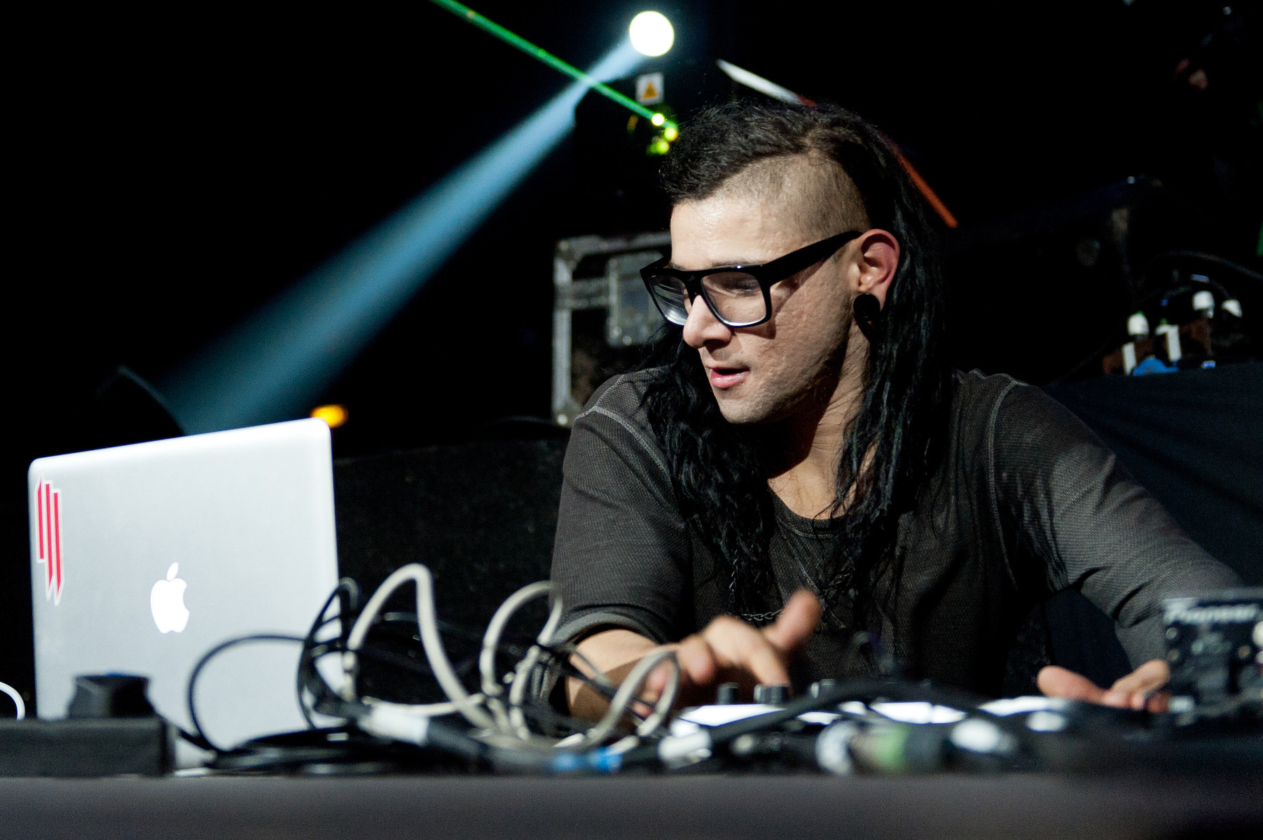 The Grammy-award-winning electronic musician Skrillex