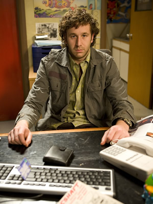 """""""Roy"""" (Chris O'Dowd) of the British comedy show,  The IT Crowd"""