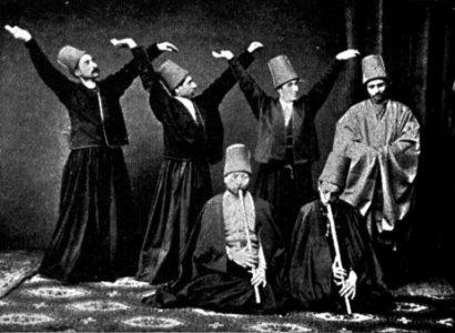 Mevlevi dervishes, 1887
