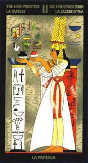 High Priestess in the Nefertari Deck