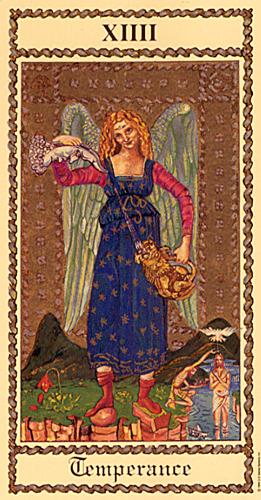 Temperance in the Medieval Scapini Tarot