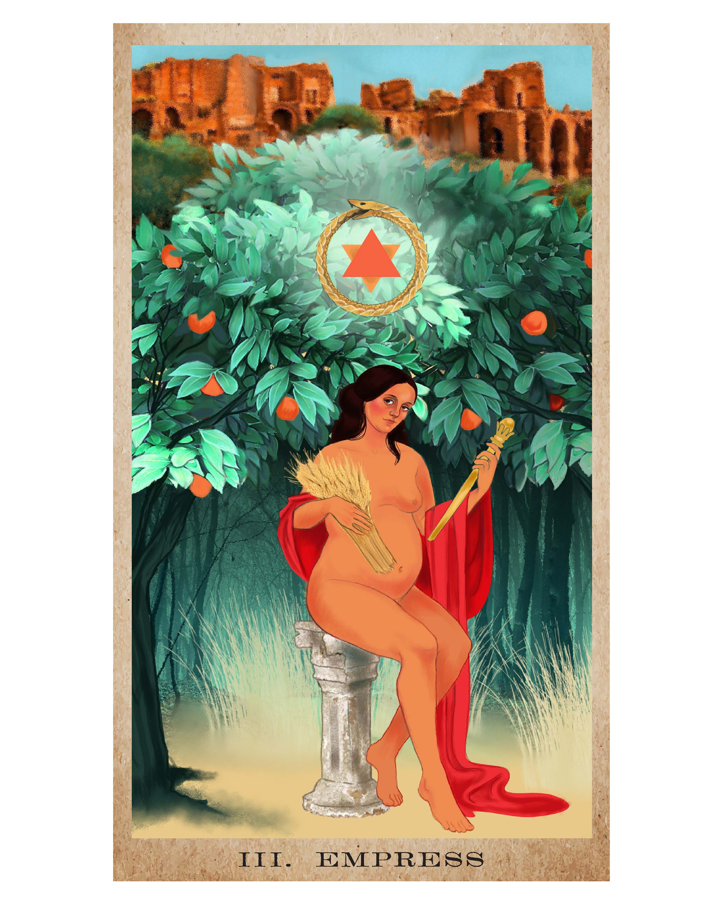 The Empress card from  The American Renaissance Tarot , my personal ode to the Summer Solstice.