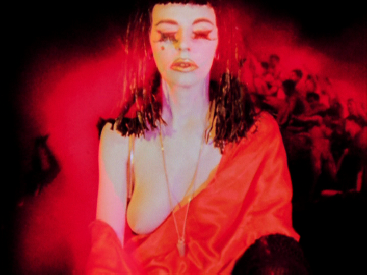 Pluto Babe Marjorie Cameron as she appears in the Kenneth Anger film,  Inauguration of the Pleasure Dome