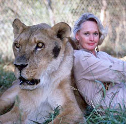 Actress Tippi Hedren put up with a lot of sexual harassment from director Alfred Hitchcock, and when she refused to sleep with him, Hitch threatened to ruin her career.  She couldn't work in Hollywood for years after Hitchcock blackened her name, so she turned to other projects, like rescuing big cats and caring for them at her sanctuary, Shambala:  total Pluto Babe.