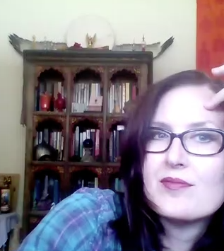 August: Video-recording astrology readings in my office for shows like  Witches & Wine