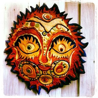 One of my Mom's ceramic Suns