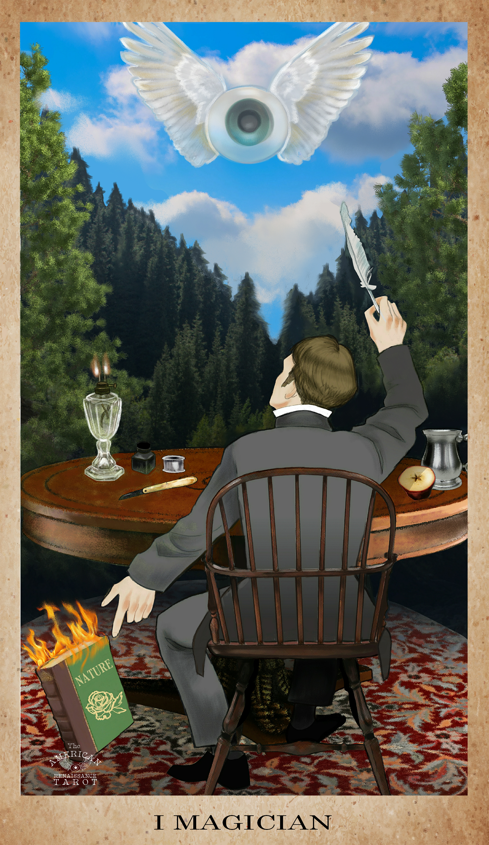 Ralph Waldo Emerson is the Magician for my literary Tarot project,   The American Renaissance Tarot .   The Magician (ruled by the planet Mercury) determines his own reality through the power of his mind.