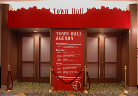 town hall entry