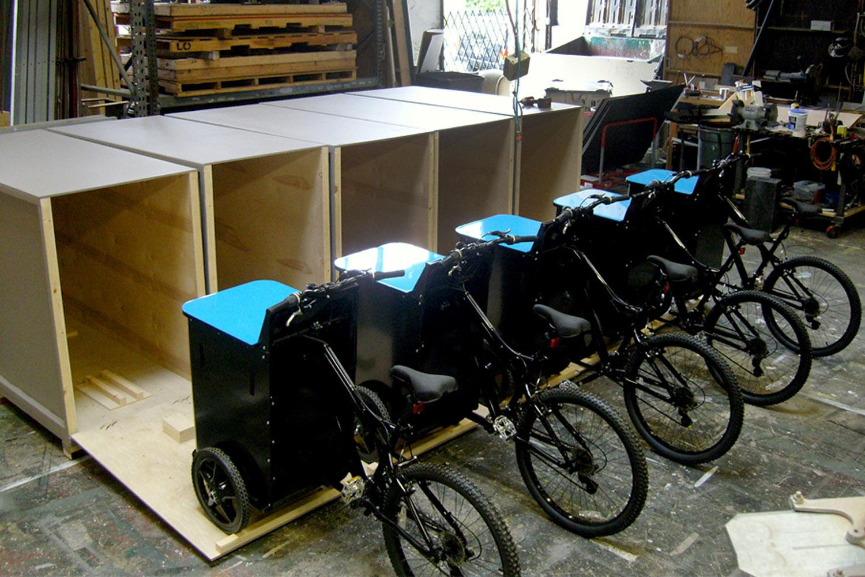 Samsung Galaxy custom mobile bike carts