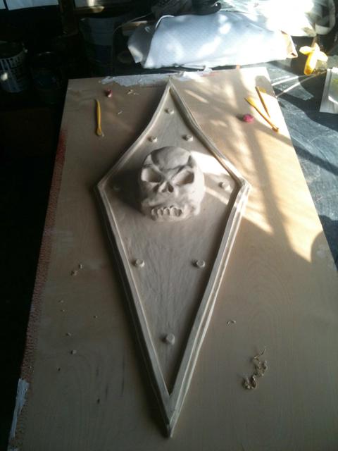 first skull replica