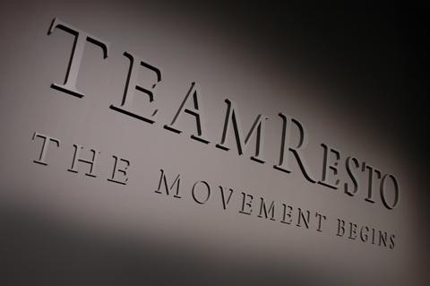team restoration logo detail