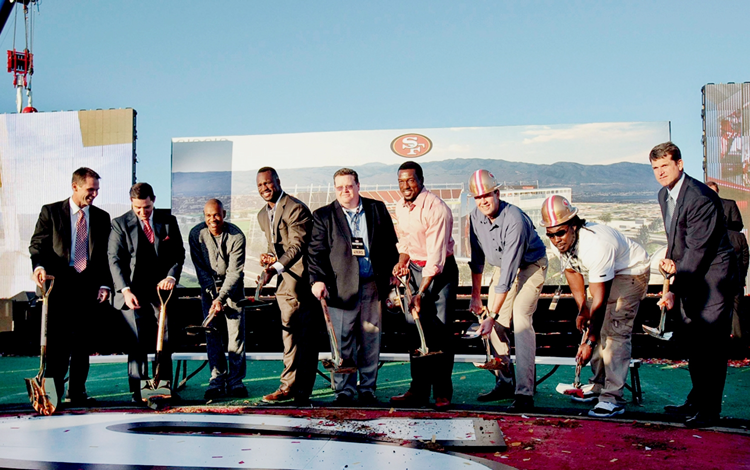 Levi's Stadium Groundbreaking Ceremony